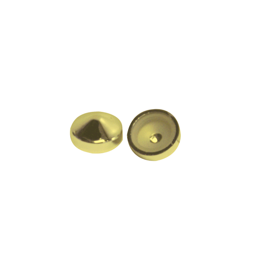 Screw Covers Snap On Pointed 16mm Gold 10 pack