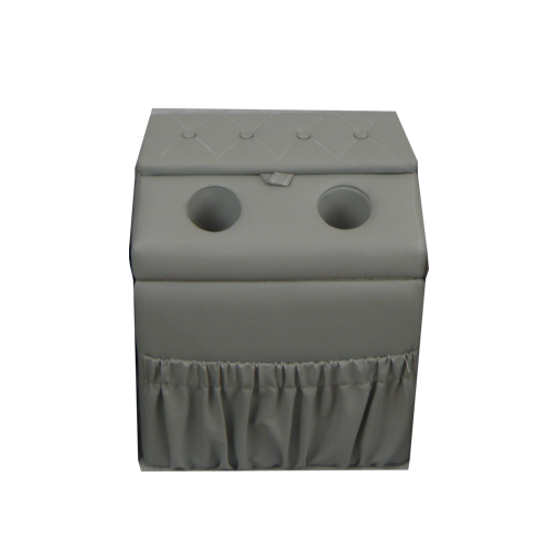 Middle Seat Console Storage/Bench Gray