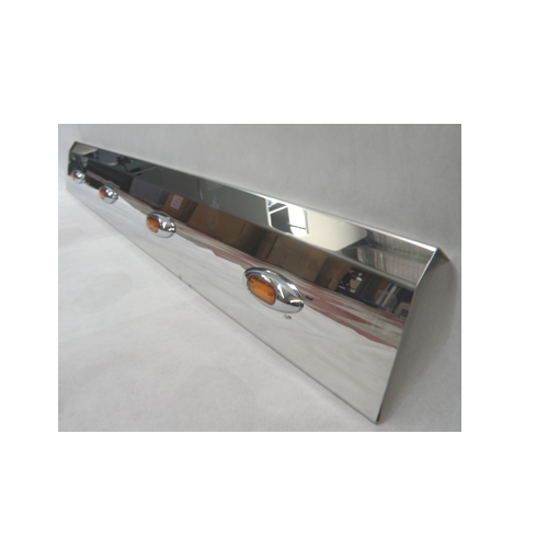 Stainless Steel Tank Skirt Round 1500MM 5 LED Amber Single Kenworth/Freightliner/Iveco