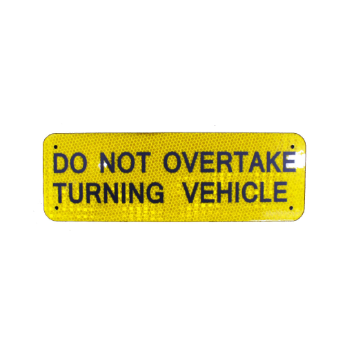 Marker Do Not Overtake 300X100 Alloy Class 1